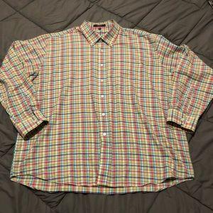 Alan Flusser Plaid Button Up Shirt